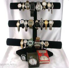 Wholesale Lot 24 Watches Elgin Lorus Fossil Guess Waterpro Citron Stopwatch SuzePlace.com