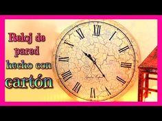manualidades: Reloj de pared hecho con cartón y la tecnica del craquelado Isa ❤️ - YouTube