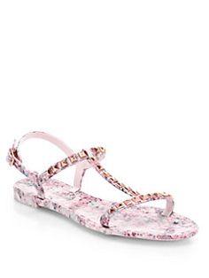 Rebecca Minkoff - Sava Studded Plastic Sandals