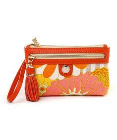 This Orange & Pink Tibi Soli Tassel Wristlet by Spartina 449 is perfect! #zulilyfinds