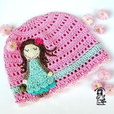 Not my usual like Crochet Summer Hats, Crochet For Kids, Childrens Crochet Hats, Caron Yarn, Knitting Patterns, Crochet Patterns, Crochet Baby Clothes, Kids Hats, Crochet Flowers