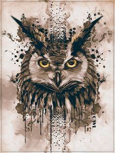 Owl art from coffee, coffee art painting, owls illustration Owl Art, Bird Art, Inspiration Art, Art Inspo, Tatou Animal, Owl Tattoo Drawings, Tattoo Owl, Buho Tattoo, Owl Illustration