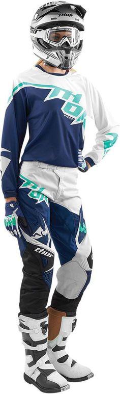 A navy motocross gear for women! bit.ly/thor15
