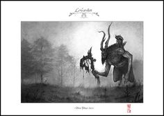 The Guardian  A4 Fine Art Print  Signed and by Olivier Villoingt
