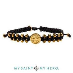 Stairway to Heaven Crystal Benedictine Bracelet (Gold and Black with Gold)