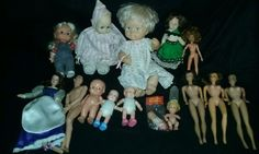 Huge Vintage Doll Lot Horsman Baby Dolls Mattel Barbie Midge Remco Eugene & More #Horsman #HebeeShebeeDolls