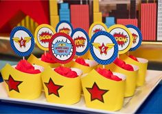 Anders Ruff Custom Designs, LLC: A Comic Style Wonder Woman Super Hero Birthday Party