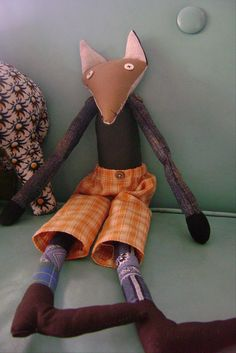 button-eyed fox doll
