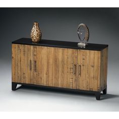 Butler Chest - Designer s Edge - Exotic and modern, the Butler Chest - Designers Edge makes a designer statement in your space. This chest is crafted of gemelina hardwood solids w...