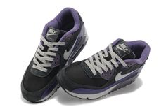 $104.00 Nike Air Max 90 Womens Black Anthracite Purple W325213-024