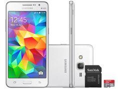 Smartphone Samsung Galaxy Gran Prime Duos 8GB - Dual Chip 3G Câm. 8MP + Selfie 5MP + Cartão 32GB com as melhores condições você…
