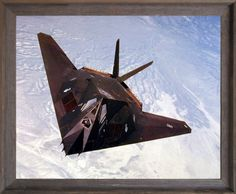 Enliven your living quarters with this amazing F117-A Stealth fighter framed art poster. It will be a great addition to any home decor. The F117-A Stealth Fighter plane is the world's first operational aircraft designed to exploit low-observable stealth technology. The aircraft includes unique design with a single-seat which provides exceptional combat capabilities. You'll be proud to hang this framed art on your walls of your home. Its wonderful barn wood frame accentuates the poster mild…