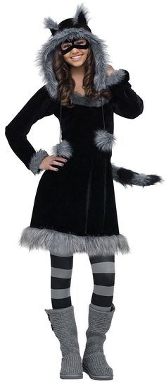 The Sweet Raccoon Costume For Teens is the best 2019 Halloween costume for you to get! Everyone will love this Teen costume that you picked up from Wholesale Halloween Costumes! Modest Halloween Costumes, Tween Costumes, Halloween Costumes For Teens Girls, Costumes For Women, Woman Costumes, Couple Costumes, Pirate Costumes, Princess Costumes, Group Costumes