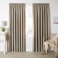 Haven Mocha - Readymade Thermal Pencil Pleat Curtain - Curtain Studio buy curtains online
