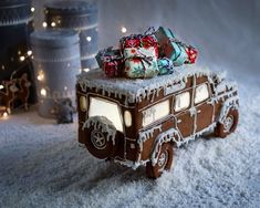 "196 Likes, 42 Comments - Chlorosis Wolff (@chlorosiswolff) on Instagram: ""This year instead of a classic gingerbread-house as christmas decorations I made a gingerbread-car…"""