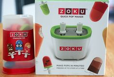 If I have one product to recommend it would be the Zoku quick pop makers for sure!