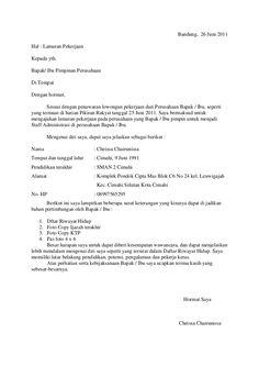 Surat Lamaran Kerja Perusahaan - ben jobs
