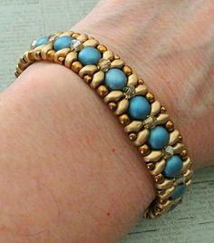 Linda's Crafty Inspirations: Bracelet of the Day: Demoiselle Bracelet - Blue…