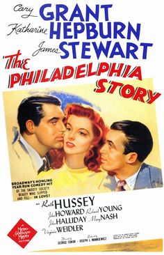 Katherine Hepburn bought the rights to the screen play, The Philadelphia Story, and wanted Spencer Tracy in it. Thank goodness he was unavailable. Cary Grant and Jimmy Stewart are delightful.