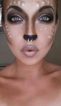 Bambi Click Pic for 26 DIY Halloween Makeup Ideas for Women
