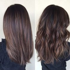 Cool brown balayage hairstyle