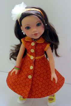 Lemonade color dress  Heart4Heart doll by CelenaLei on Etsy, $15.00