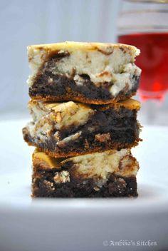 Vanilla Cheesecake Swirl Brownies