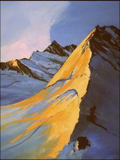 Bergbilder - Modern Painting Mount Everest, Modern, Nature, Painting, Travel, Mountain, Paint, Trendy Tree, Naturaleza