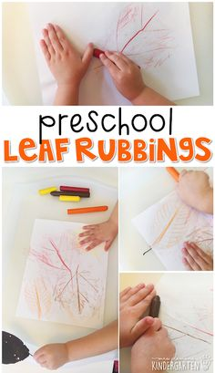 Preschool: Fall Fall leaf rubbings are an adorable classic activity that incorporates lots of fine motor skills practice. Great for tot school, preschool, or even kindergarten!