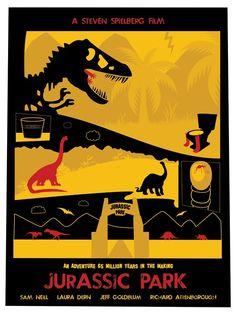 Alternative Movie Poster Art based on the Jurassic Park movie Jurassic Park Alternative Movie Art New Jurassic Park, Jurassic Park Poster, Jurassic World 2015, Jurrassic Park, Park Art, Michael Crichton, Thriller, Science Fiction, Horror