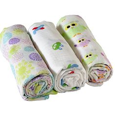 Adorable Premium Muslin Cotton Swaddling Blanket 3 Pack 47x47 -- Click image to review more details.-It is an affiliate link to Amazon.