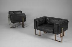 Pair of Esko Pajamies Lounge Chairs