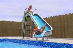 Mod The Sims - Pool Slide