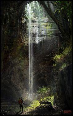 cave_entrance_speedpainting