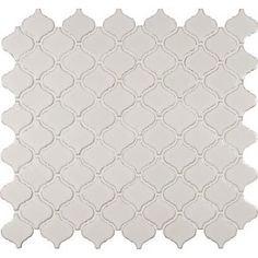 Bianco Arabesque Ceramic Mosaic Tile in White (Set of 15)