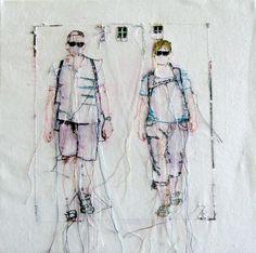 Textil Kunst: Urlaub mit Sonne