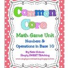 This collection of 16 math games was designed to teach/review the Common Core math standards for 1st Grade under the
