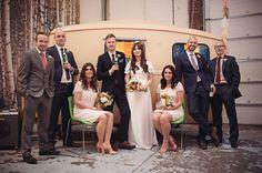 Charming UK Warehouse Wedding: Laura + Karl