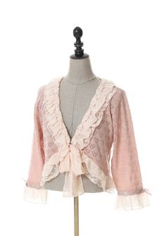 http://shop.axesfemme.com/femme-ハート柄リボンデザインボレロ/brandproduct/femme/0/MR141X27/