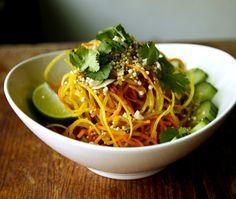 A healthy faux-noodle vegetable salad.