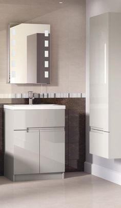 Handle-less bathroom furniture adds an element of sophistication to your home. A trend that's really caught on in recent times!