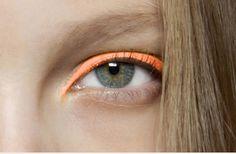 Orange eye-liner by NYX