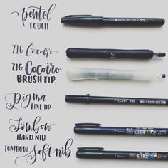 """Since i'm always asked what are my favorite pens. Here it is...and I will post my favorite colored brush pens as well... Hope this helps. #mommylheypens…"""