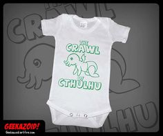 Crawl of Cthulhu Baby Onesie Lovecraft Humor by Geekazoid on Etsy, $10.00