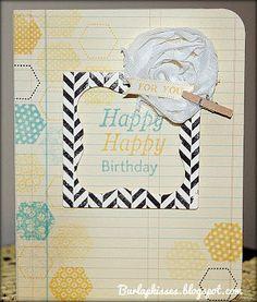 Burlap Kisses: Happy Hexagons Papertrey Ink