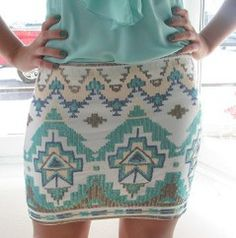 Aztec print and teal...my favorite!
