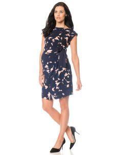 TAYLOR Short Sleeve Tie Detail Maternity Dress