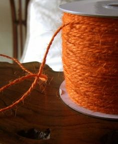 5.49 SALE PRICE! Create warm, fall-inspired displays at a party or wedding with this natural thread. The Orange Jute Twine can be used as a bright garland at...