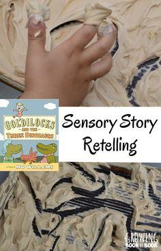 Goldilocks and the Three Dinosaurs Sensory Retelling Activity