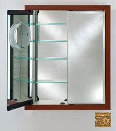 Phillip Lim Afina Corporation in.x 36 in.Recessed Double Door Cabinet - Rustic Wood Off White Surface Mount Medicine Cabinet, Recessed Medicine Cabinet, Bathroom Medicine Cabinet, Medicine Cabinets, Bathroom Storage, Round Wall Mirror, Wall Mounted Mirror, Beveled Mirror, Mirror Mirror